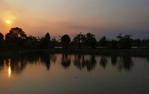 タイ田舎の夕方