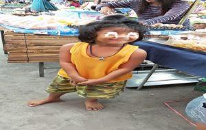 タイ田舎の子供