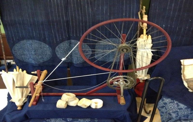 タイヘンプの糸つむぎ機