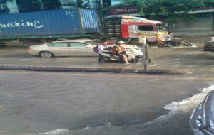 バンコクの冠水道路
