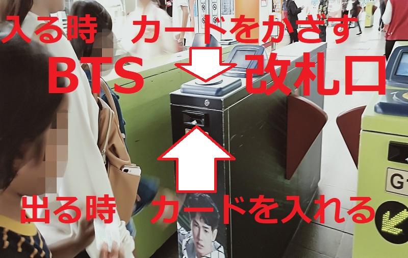 BTS 改札口