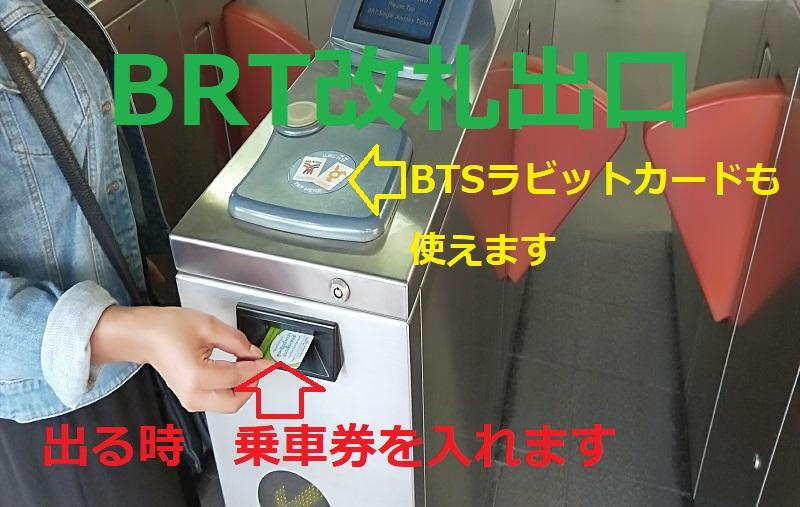 BRT改札出口