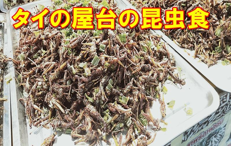 タイ屋台の昆虫食